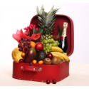 Flores, frutas y Moêt